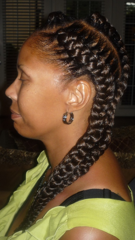 Goddess Braids 3 for $30.00 Summer Special side view